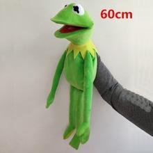 60cm=23.6inch The Muppets KERMIT FROG Stuffed animals Hand puppet Plush Baby Boy Toys for Children Birthday Gift