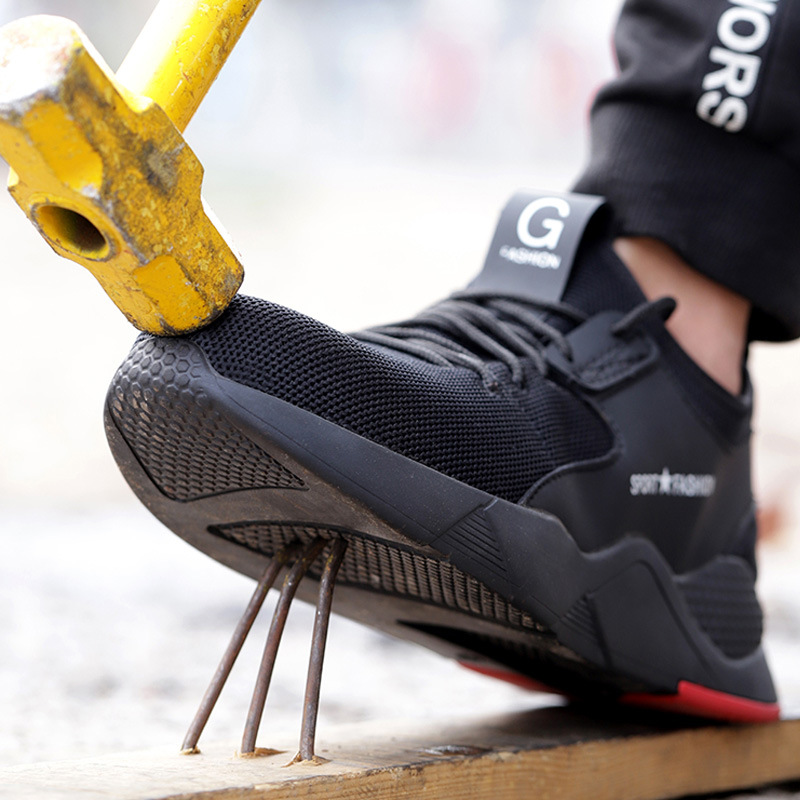 Male Work Safety Shoes Men Boots Outdoor Military Boots Steel Toe Working Shoes For Men Shoes Puncture Proof Safety Shoes 2020