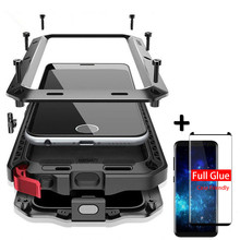Luxury Shockproof doom Armor Case For Samsung S10 S8 S9 S20 Plus S10E Metal Waterproof Cover For galaxy Note 20 10Plus Note9 8