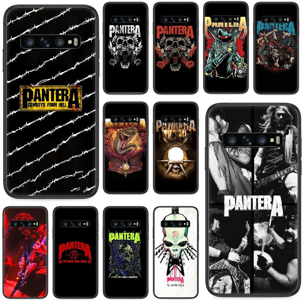 Pantera Rock Band coque de téléphone en métal lourd pour Samsung Galaxy S 10 20 3 4 5 6 7 8 9 Plus E Lite Uitra noir dos joli pare-chocs