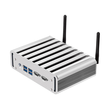 Dual LAN Mini PC Fanless 2*COM Mini Comput Core i3 4010U i5 4200U i7 4500U Windows 10 Office Desktop HDMI Wifi HD Graphics 4400