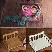 Newborn Photography Accessories Props Wood Bed Baby Photography Props Photo Studio Crib Props for Photo Shoot Posing Sofa