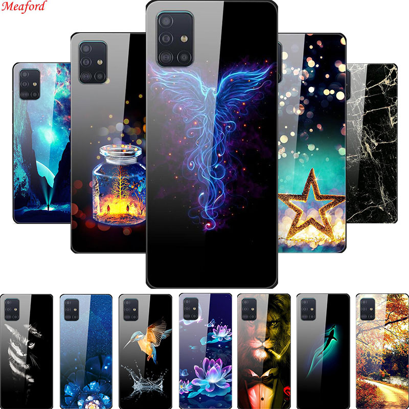Tempered <font><b>Glass</b></font> <font><b>Case</b></font> For <font><b>Samsung</b></font> Galaxy A31 A71 A51 <font><b>Case</b></font> <font><b>Glass</b></font> Back Cover <font><b>Case</b></font> For <font><b>Samsung</b></font> A51 A41 A31 M21 <font><b>M30s</b></font> A71 <font><b>Case</b></font> A 51 M21 image