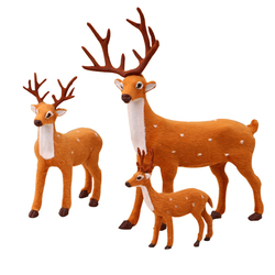 16/23/36cm New Reindeer Christmas Deer Doll Xmas Elk Plush Simulation Christmas Decorations For Home Navidad New Year Gifts