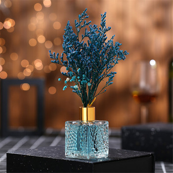 80ml Blue Aromatherapy Reed Oil Diffusers With Natural Sticks 1