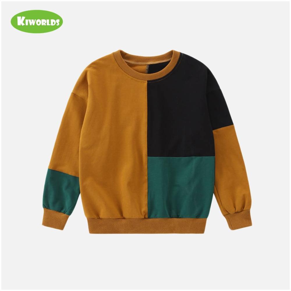 2020 Spring High quality long sleeve soft cotton boy black green khaki T-shirts fashion tops tees clothing for kids 1