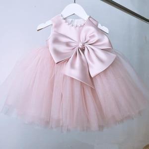 1 rok dziewczynka sukienka urodzinowa niemowlę różowa koronka chrzest księżniczka sukienka maluch dziewczyna ubrania ślubne noworodka suknia do chrztu