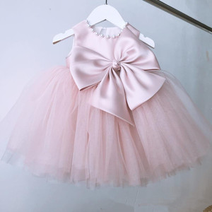 Vestido de cumpleaños para bebé niña de 1 año, vestido de princesa de encaje rosa para bautizo, niño niña, ropa de boda, vestido de bautizo del recién nacido