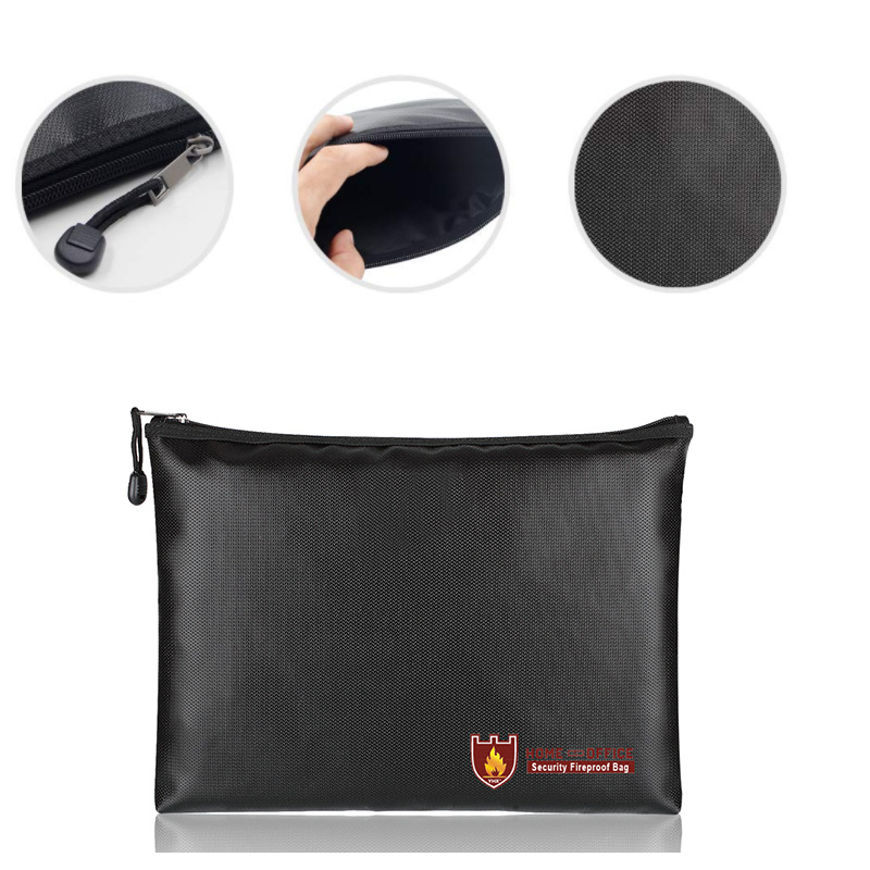 Fireproof Document Bag Fire Resistant Waterproof Envelope Pouch For Passport Money Files VDX99
