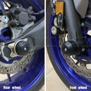 Image 5 - Front Rear Wheel Fork Slider Protector For YAMAHA MT 07 MT07 MT 07 FZ 07 FZ07 2014 2020 FZ 09 Motorcycle Accessories Crash Axle