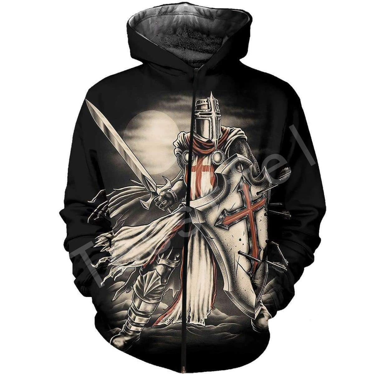 Tessffel Knight Templar cavalie 3D full Printed Hoodie Sweatshirt Jacket shirts Men Women HIP HOP fit colorful Harajuku style 4 in Hoodies amp Sweatshirts from Men 39 s Clothing