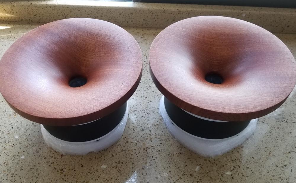 Pair 2 Pcs  MeloDavid  Audio  Titanum Ti Dome Horn Tweeter Speaker  98db