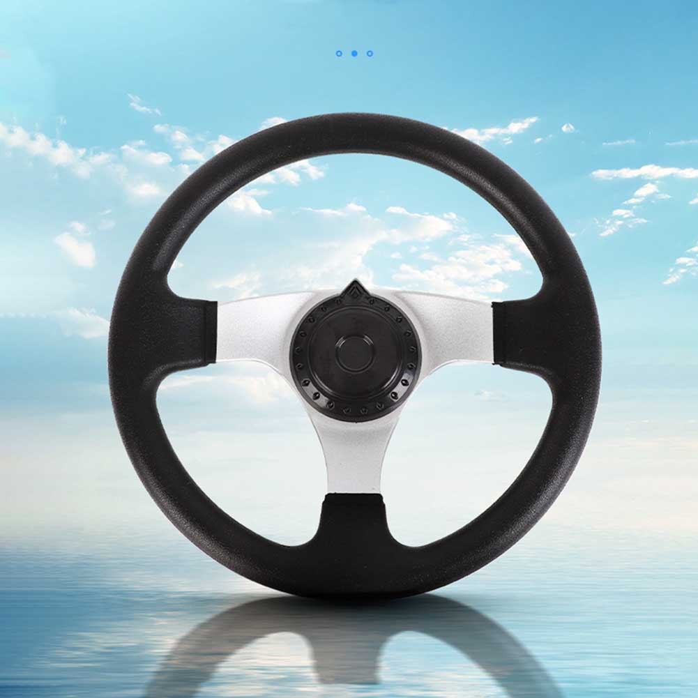 270mm PU Foam Hardware Steering Wheel Replacement 3 Spokes Interior Vehicle Universal Durable Accessories Classic For Go Kart