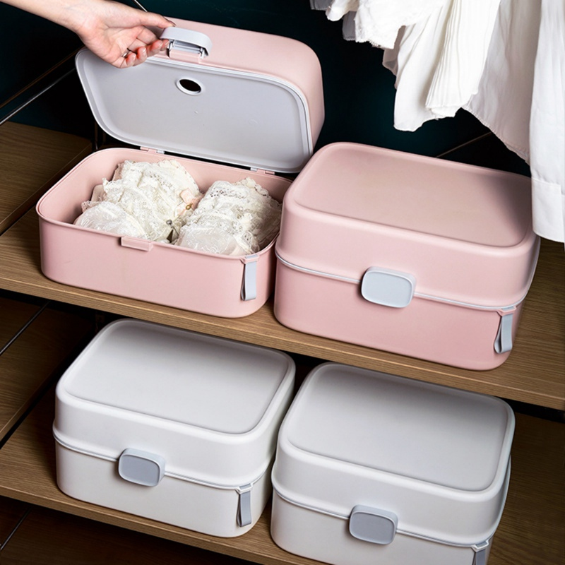 12 Grid Storage Box Household Plastic Bras Box clothes closet organizer Underwear Panties Socks Travel Storage Bag|Drawer Organizers| |  - title=
