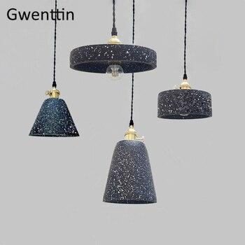 Vintage Cement Pendant Lights Industrial Lamp Kitchen Hanging Lamps Living Room Bedroom Light Fixtures Home Lighting Loft Decor