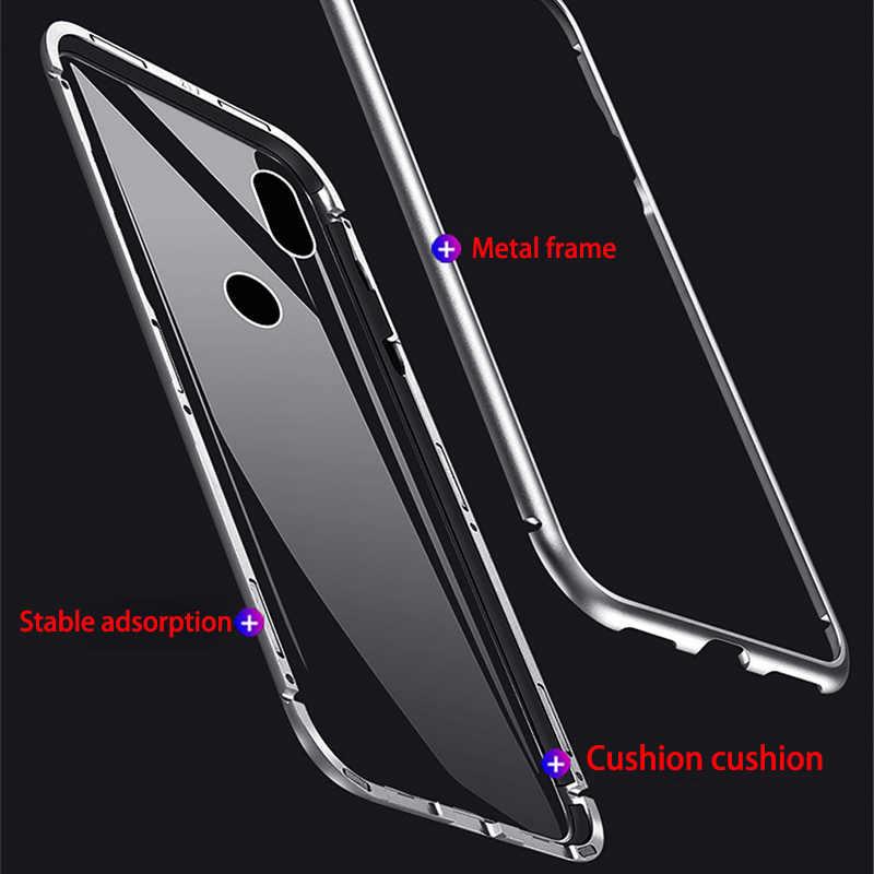 المغناطيسي الامتزاز المعادن حقيبة لهاتف Xiaomi Redmi ملاحظة 7 5 6 برو 7 K20 6A ل Xiaomi Mi8 لايت Mi9 SE F1 9T برو المغناطيس غطاء