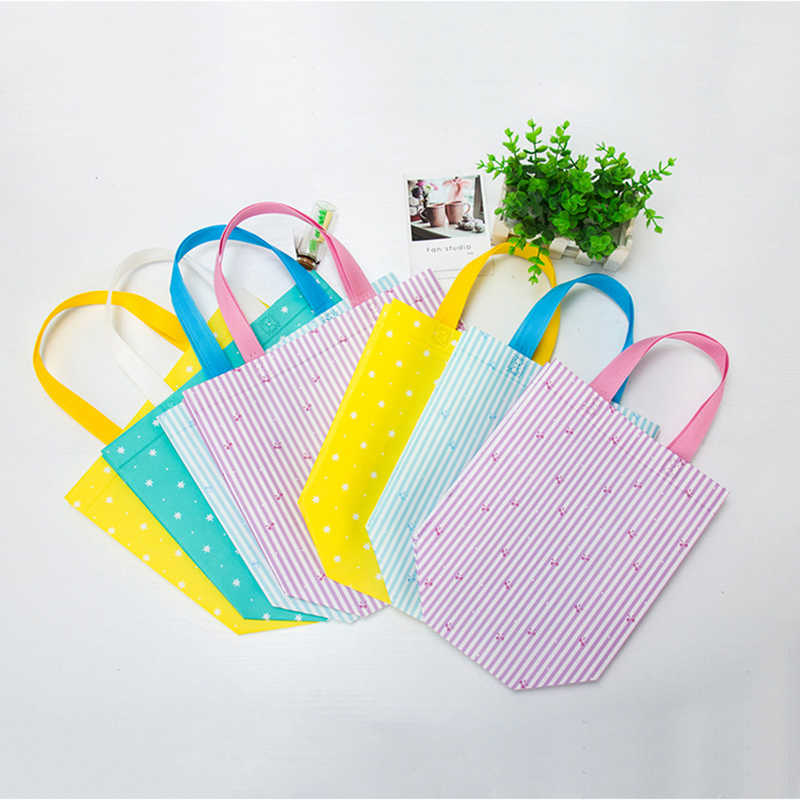 2019 New Foldable Shopping Bag Dot Printed Reusable Tote Pouch Women Travel Storage Handbag Eco Bags Female Canvas Shopping Bags