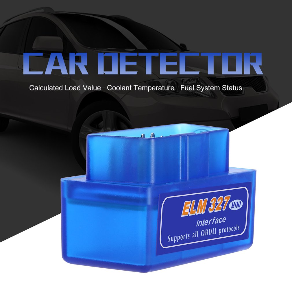 New Mini Portable ELM327 V2.1 OBD2 II Bluetooth Diagnostic Car Auto Interface Scanner Blue Premium ABS Diagnostic Tool