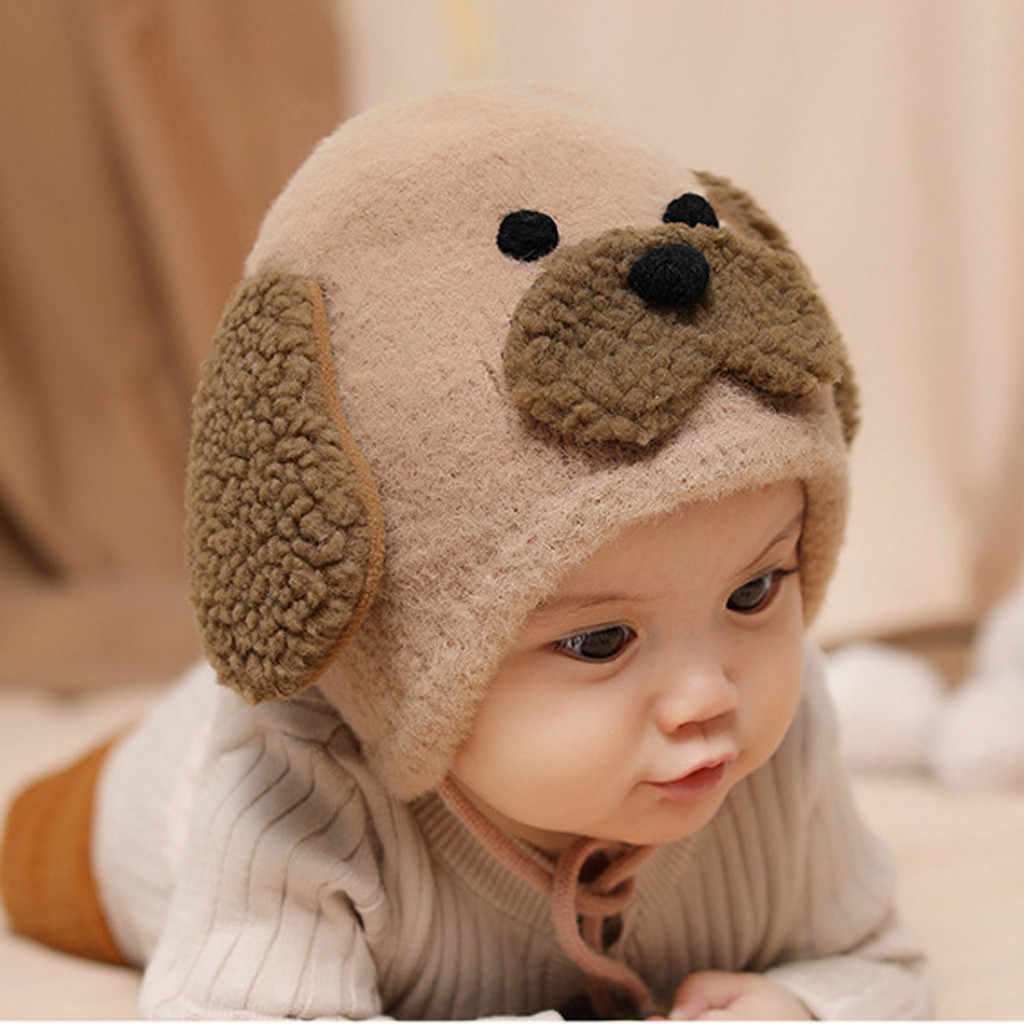 5 Colors Knitted Cap For Newborn 2019 Cute Boy Girl Ears Warm Cartoon Animal Furry Hat Fashion Unisex Infant Baby Beanie Caps