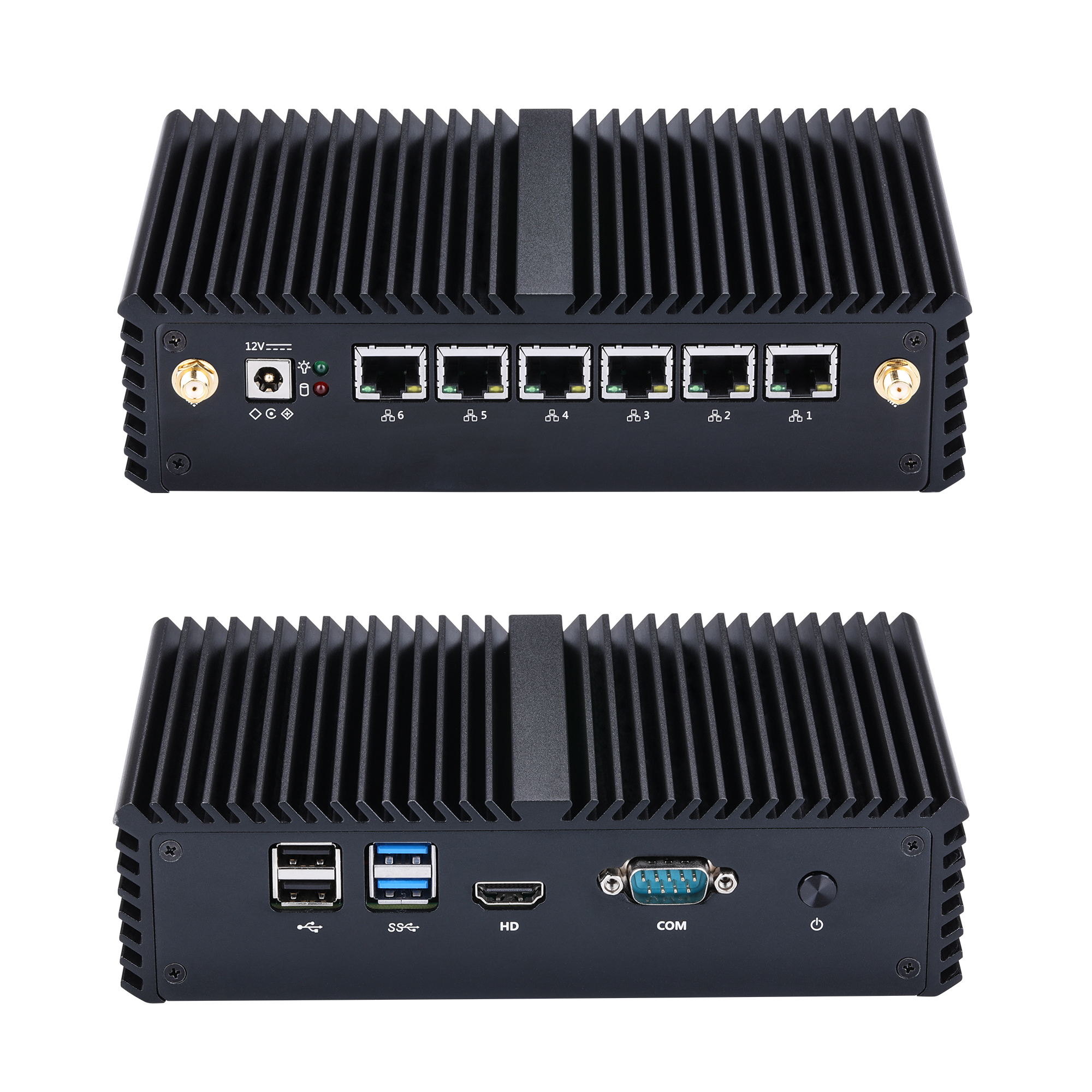 New Fanless Aes Ni Core I3 I5 I7 Firewall 6 Gigabit Lan Mini Computer,1080P Office Gaterway Home Router