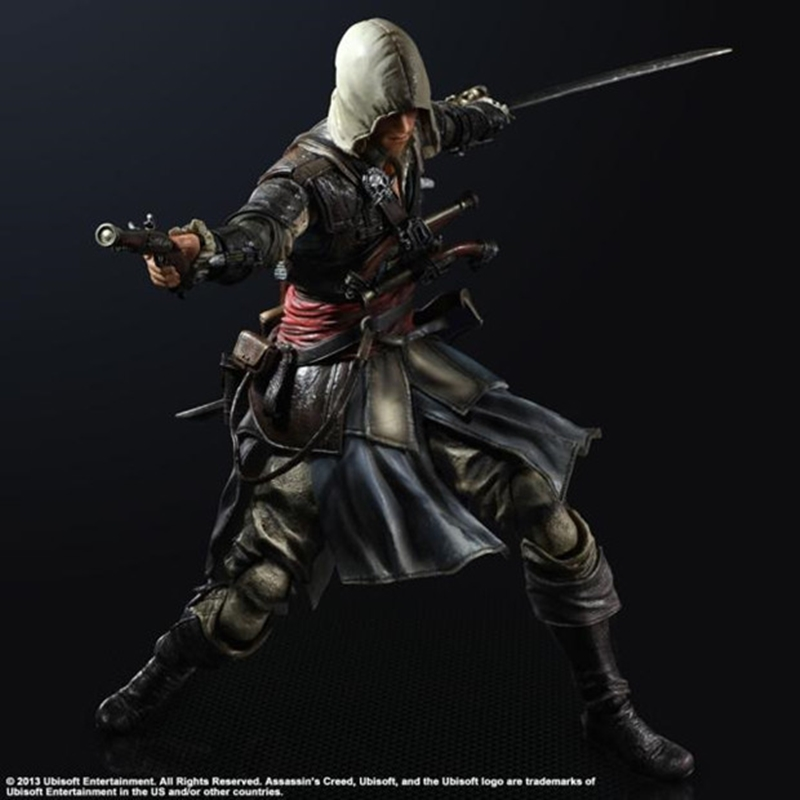 PLAY ARTS KAI VARIANT ASSASSIN/'S CREED 3 CONNOR KENWAY MODEL ACTION FIGURES TOY