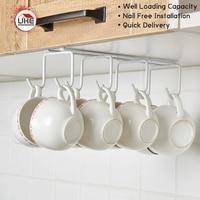 UKE Nail Free Cup Stroage Rack 8 Hook Cup Hanger Kitchen Tool Utensils Organizers Holer