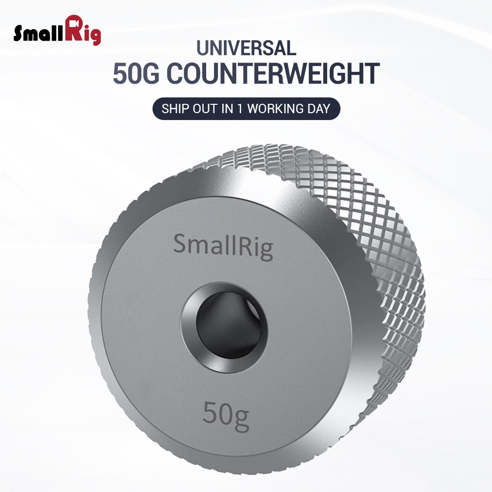 SMALLRIG Removable Counterweight 100g for DJI Ronin S//Ronin-SC and Zhiyun Gimbal Stabilizers 2284
