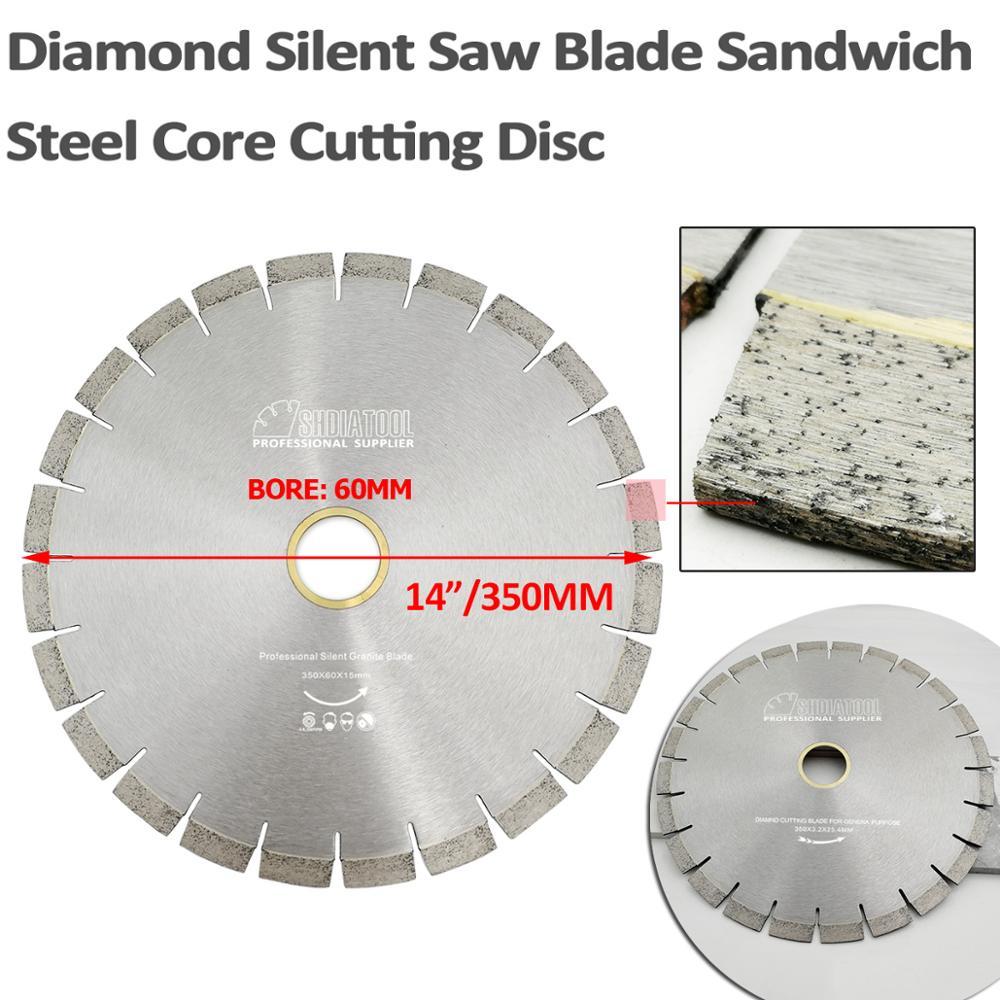 DIATOOL 1pc 350mm Vacuum Brazed Diamond Blade For All Purpose 14 Demolition Blade For Stone Iron Steel - 3