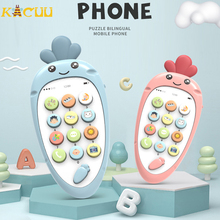 Electronic Cartoon Phone Toys Toddler Mobile Phone Cellphone Telephone Educational Learning Toys Music Baby Infant Teether Phone