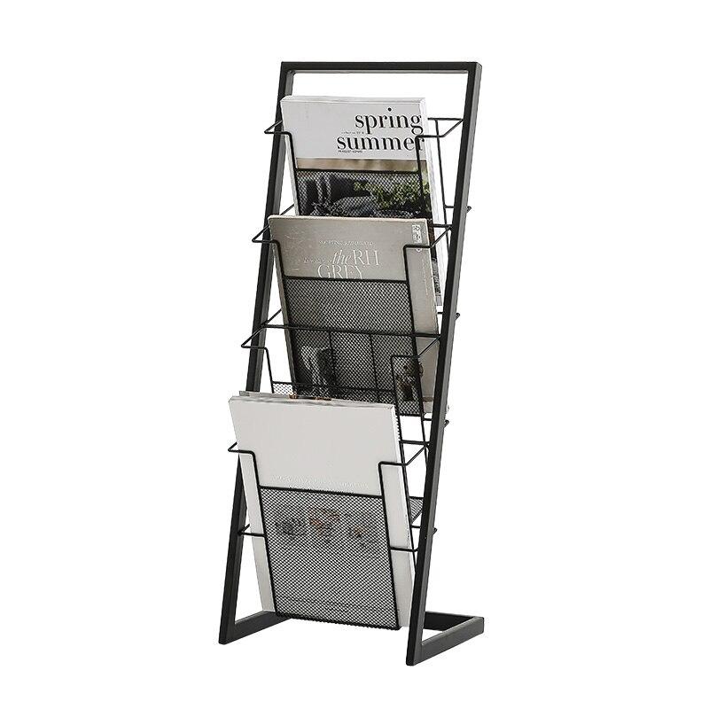 Magazine Shelf, Simple Bookshelf, Newspaper Shelf, Newspaper Shelf, Iron Shelf, Simple Bookshelf For Children