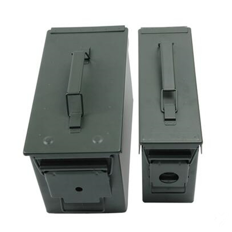 High-quality Steel Ammo Box Military Style Storage Ammo Can High Strength Ammo Accessory Crate Storage Case Tactical Bullet Box