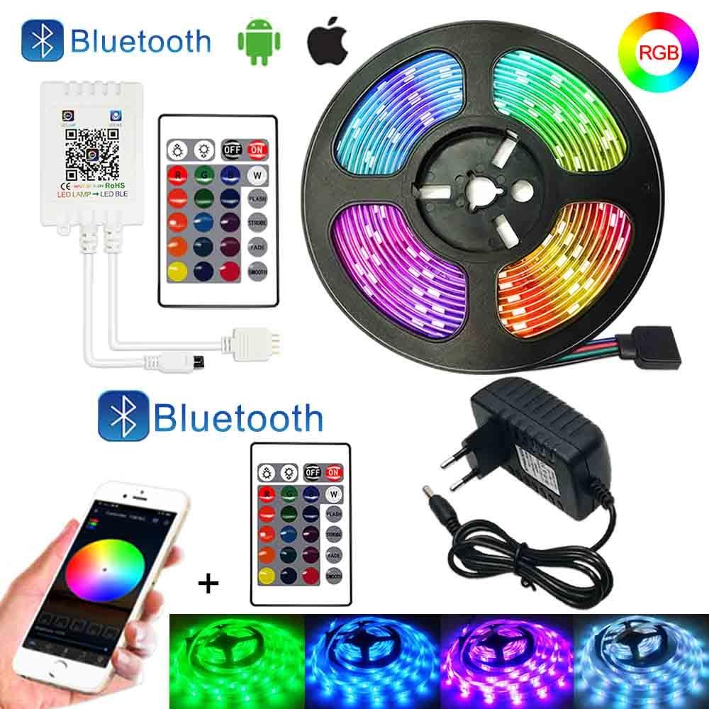 Bluetooth RGB светодиодный полосы 12V 5050 5, 10 м, 15 м, 20 м гибкая Тира светодиодный светильник полоски RGB Рубан светодиодный светильник s для комнаты
