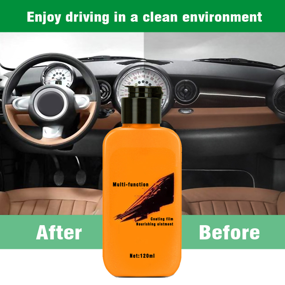 Hot Auto Leather Renovated Coating Paste Maintenance Agent For Seat Center Console 120ml Cleaner X66