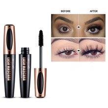 1 pçs 4d fibra de seda chicote rímel rímel à prova d3d água 3d rímel para extensão da pestana preto grosso alongamento cílios de olho cosméticos