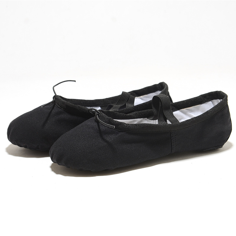 USHINE Ballerinas for Girls Classic Split-Sole Canvas Dance Gymnastics Kids Yoga Shoes Kids Dance Shoe Women Ballerinas