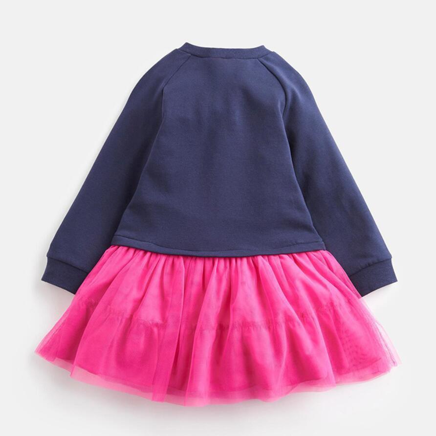 Little maven kids girls brand 2021 autumn baby girls clothes Cotton toddler girl party dress animal print striped tutu dresses 2
