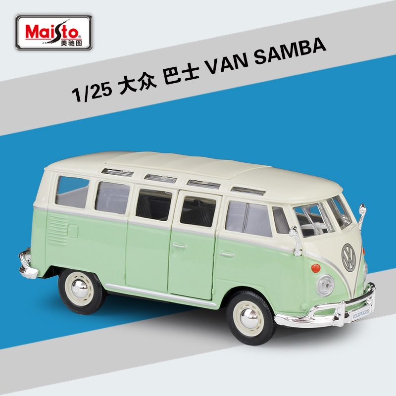 Maisto 1:25 Volkswagen VAN SAMBA Simulation Alloy Car Model Decoration Collection Gift Toy