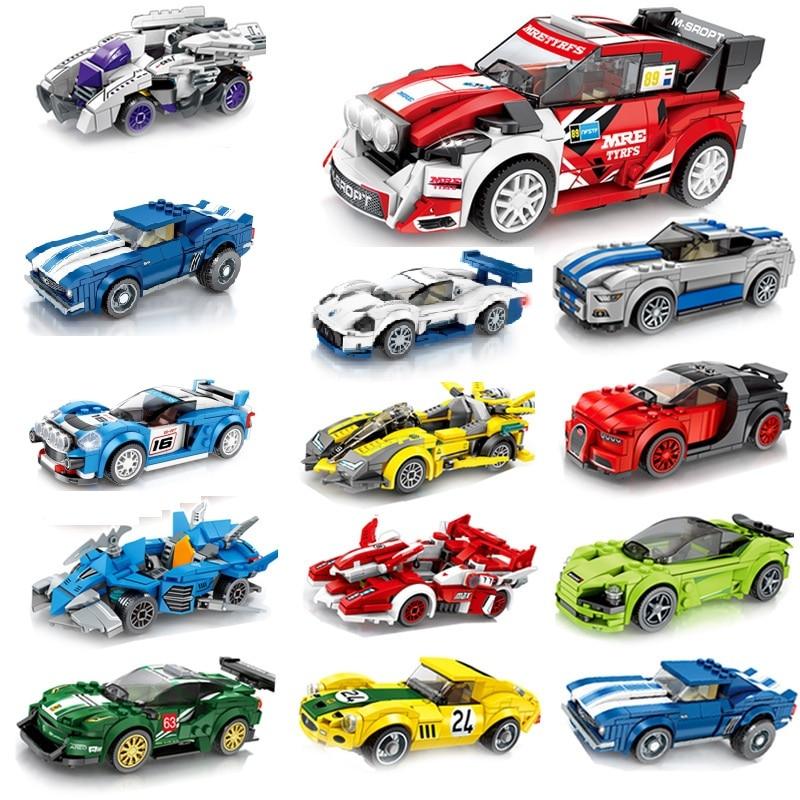 SEMBO Blocks Super Race Car Building Bricks Famous Vehicle Model Speed Educational Birthday Boy Gifts Kids Toys For Children