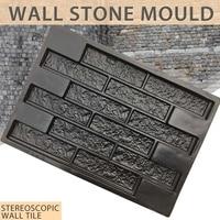 Moldes de plástico para paredes de jardín, yeso, yeso, casa, azulejos de piedra, molde de piedra, ladrillo de cemento, molde 69*49cm decorativo