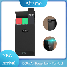 New USB Charger Case For JUUL Portable Podbay e cigarette Quick Pods 1500mAh Power bank Juul Batteries
