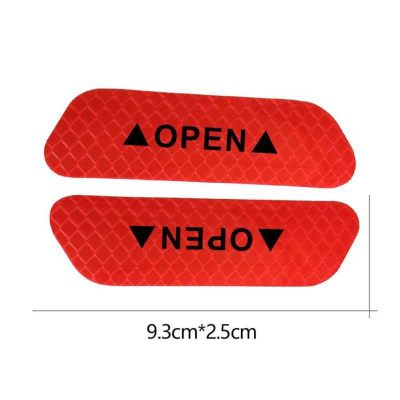 Araba açık yansıtıcı bant uyarı işareti Dacia duster logan sandero stepway lodgy mcv 2 dokker araba Styling aksesuarları