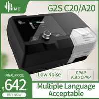 BMC recién llegados máquina CPAP G2S C20/A20 equipo médico doméstico para ronquidos y Apnea del sueño con máscara y humidificador NM4