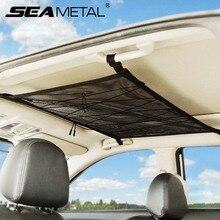 Portable Car Ceiling Storage Net Interior Auto Organizer Mesh Nets Vehicle Ceiling Storage Bag Car Cargo Pocket Goods Accessori
