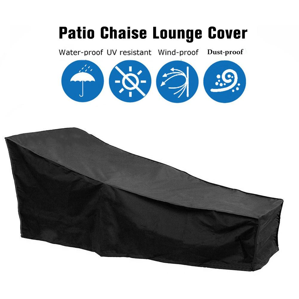 Water Resistant Sunlounger Cover Sun Lounge Chair Cover Patio Outdoor Day Chaise Cover Furniture Dustproof Protector Case Cover