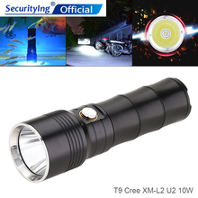 SecurityIng Powerful LED Flashlight Outdoor Lamping Torch Light Waterproof Underwater with 6 Modes for Camping