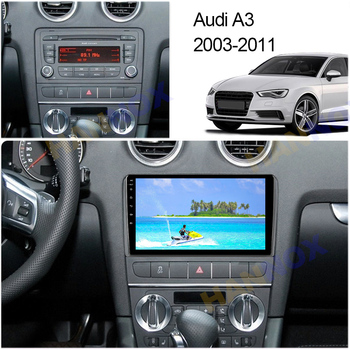 For Audi A3 2 8P 2003 - 2013 S3 2 2006 - 2012 RS3 1 2011-2012 Car Radio Multimedia Video Player Navigation GPS Android10.1 2 din image