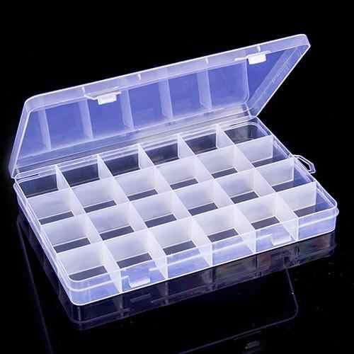 ที่มีประโยชน์ 24 ช่อง CLEAR พลาสติกกล่องเครื่องประดับต่างหูคอนเทนเนอร์