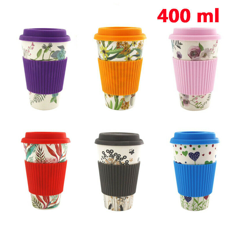 Reusable Bamboo Fiber Coffee <font><b>Cup</b></font> Mugs <font><b>Coffe</b></font> Travel Mug Drink Water Mug Healthy image