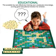 English Scrabble Board Game Crossword Spelling Game For Kids English Puzzles Board Spelling Table Jigsaw Words Teaching Toys speedy publishing llc crossword a day gotta love it crossword puzzles fun