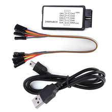Usb analisador de lógica la1002 mini portátil usb 5mhz 24m 8 canais dispositivo analisador de lógica conjunto com cabos rede ferramenta análise